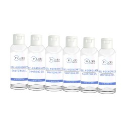 Pack de 6 unidades de 60ml Gel Higienizante Instantaneo con alcohol y glicerina IN LAB